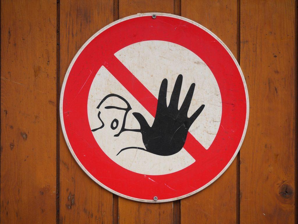 Bild eines Warnschildes